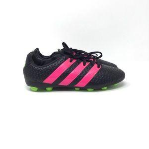 Adidas | Boy's Soccer Cleats Black Pink Green 3.5